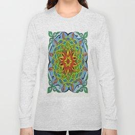 Fire Renewal Mandala Celtic Knot Mandala Art Long Sleeve T-shirt