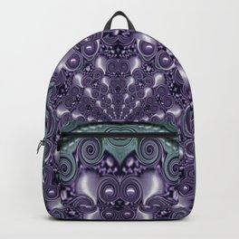 Star and flower mandala in wonderful colors Backpack