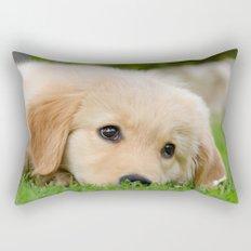 Golden Retriever puppy, cute dog Rectangular Pillow