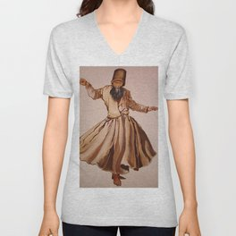 The Remembrance of Allah - A Sufi Whirling Dervish Unisex V-Neck