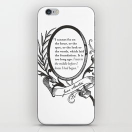 """Jane Austen """"In the Middle"""" iPhone Skin"""
