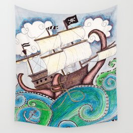 Pirate Peril Wall Tapestry