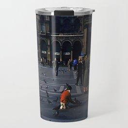 Vintage Color Photo * 1940's * St Mark's Square * Venice * Feeding Pigeons * 1950's Travel Mug