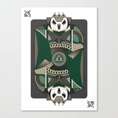 Owl Card. Canvas Print