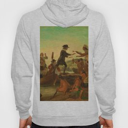 1857 Rhode Island Classical Masterpiece 'The Landing of Roger Williams' by Alonzo Chappel Hoody