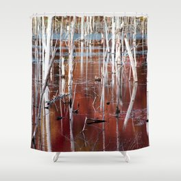 Dead Trees Shower Curtains