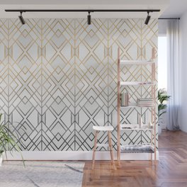 Gold And Grey Geo Wall Mural