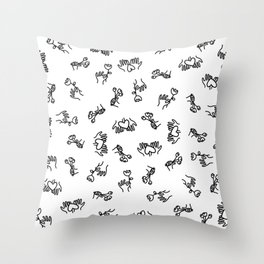 gifts and quality time are my love languages Throw Pillow