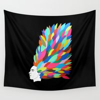 creativity Wall Tapestries featuring Creativity by Roparisart