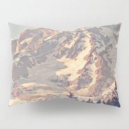 Mount Rainier Retro Pillow Sham