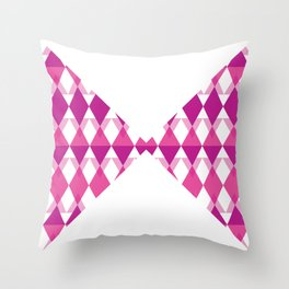 A Pink Bow Tie Throw Pillow