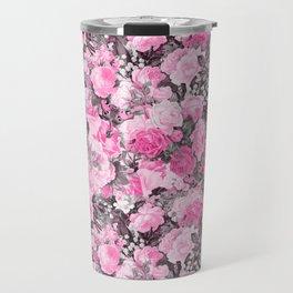 Floral pink vintage pattern Travel Mug