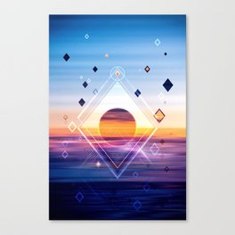 Abstract Geometric Collage II Canvas Print