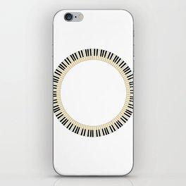 Pianom Keys Circle iPhone Skin