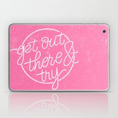 GET OUT THERE & TRY Laptop & iPad Skin
