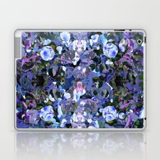 Blue Spot Floral Laptop & iPad Skin