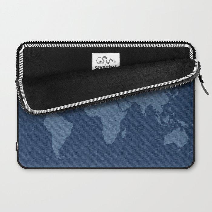 Denim Map Laptop Sleeve
