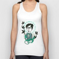 writer Tank Tops featuring Rimbaud Holy Writer by roberto lanznaster