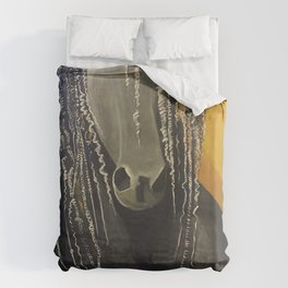Yellow Horse Duvet Cover