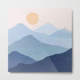 Abstraction_SUN_MOUNTAINS_LAYERS_POP_ART_M008B Metal Print