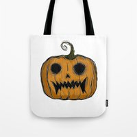 pumpkin Tote Bags featuring Pumpkin by Michelle Wenz