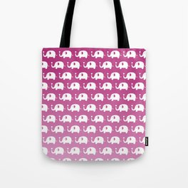Elephants in Love (Pink) Tote Bag