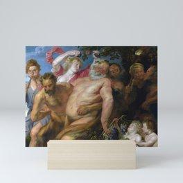 Anthony van Dyck - Drunken Silenus supported by Satyrs Mini Art Print