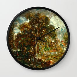 """John Constable """"On the River Stour"""" Wall Clock"""
