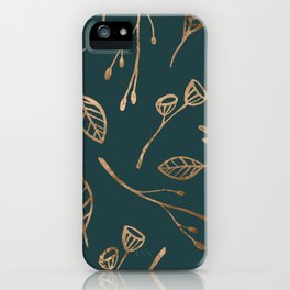 Botanical Pattern - Bronze N2 iPhone Case