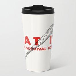 Bat it - Zombie Survival Tools Metal Travel Mug