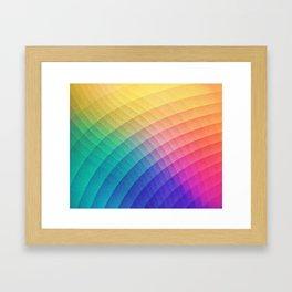 Spectrum Bomb! Fruity Fresh (HDR Rainbow Colorful Experimental Pattern) Framed Art Print
