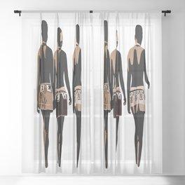zulu sisters Sheer Curtain