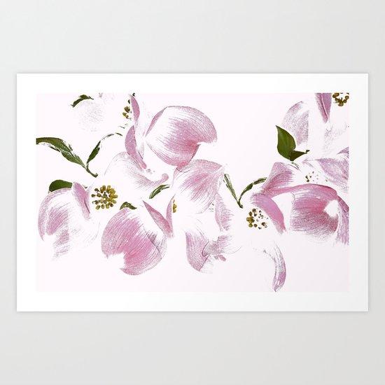 Dogwood Tree Flowers-pink Art Print