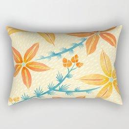 Vintage Hawaiian Print Rectangular Pillow