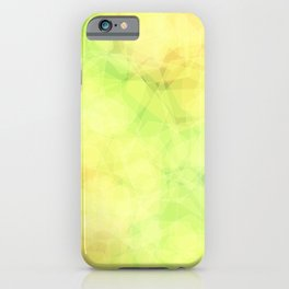 Green and orange abstract hexagons, background style iPhone Case