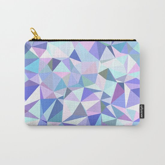Light purple geometry Carry-All Pouch