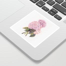 watercolor pink hydrangea Sticker