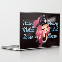 heavy metal Laptop & iPad Skins featuring Heavy Metal Lover ♥ 2.0 by Chimi-uzz
