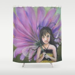Z imagination Bee Girl Shower Curtain