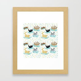 Puppies and Puddles Framed Art Print