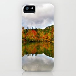Reflection Photo at Fish Pond Lake outside of Jenkins, Kentucky iPhone Case