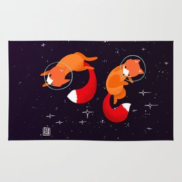 Space Foxes Rug