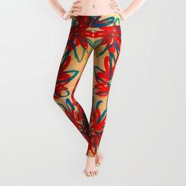 Painted Flowers Leggings