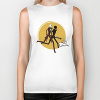 tintin Biker Tanks featuring Jack and zero by le.duc