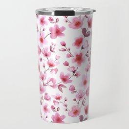 Cherry blossom flowers romantic spring pattern Travel Mug