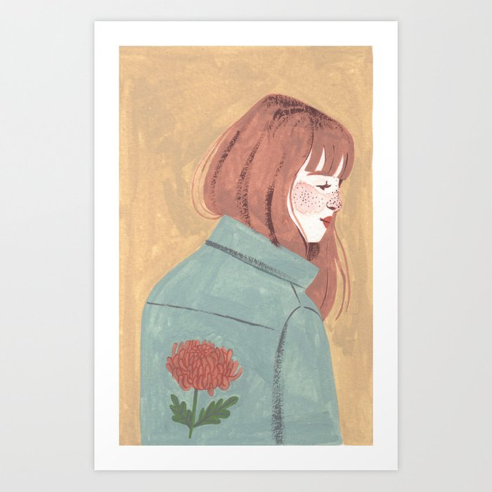 Chrysanthemum Jacket Art Print