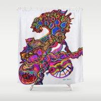 bike Shower Curtains featuring Bike by Pete Spera
