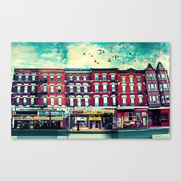 A Chicago Avenue Canvas Print