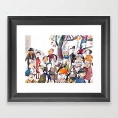 the teacher Framed Art Print