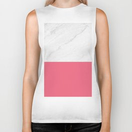 Marble And Pink Biker Tank